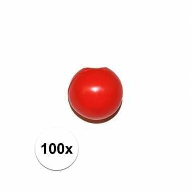 100x rode clownsneus/neuzen zonder elastiek