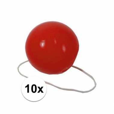 10x voordelige rode clowns neuzen