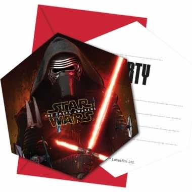 12x star wars uitnodigingen