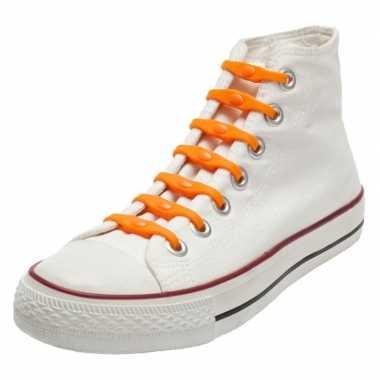 14x oranje holland veters oranje voor kinderen/volwassenen