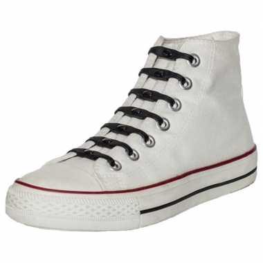 14x shoeps elastische veters zwart voor kinderen/volwassenen