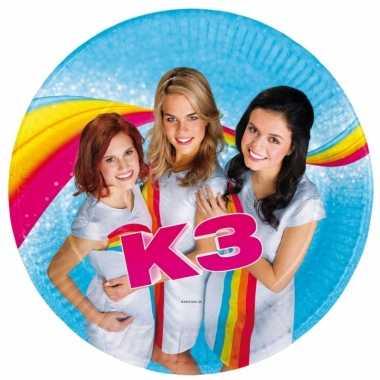 16x stuks k3 thema kinderfeestje feest bordjes