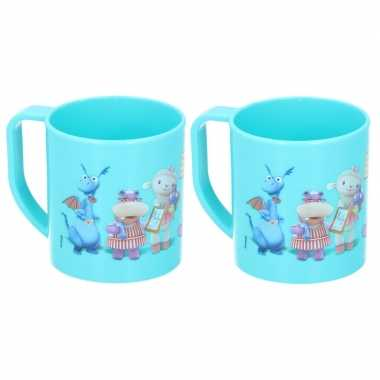 2x doc mc stuffins disney mokken onbreekbare drinkbekers blauw
