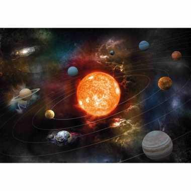 2x posters van planeten in zonnestelsel / melkweg voor op kinderkamer / school 84 x 59 cm
