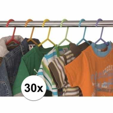 30x plastic kinder kledinghangers
