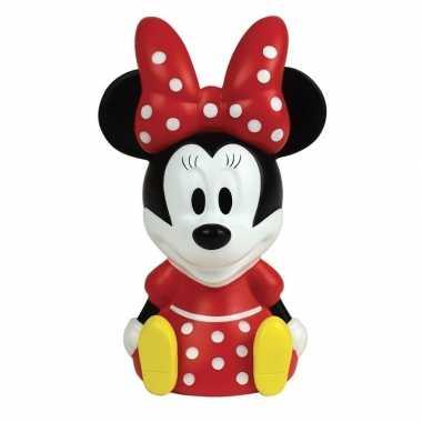 3d minnie mouse disney nachtlampje 13 cm