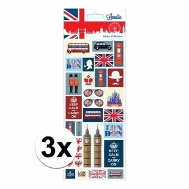 3x stickervel keep calm london