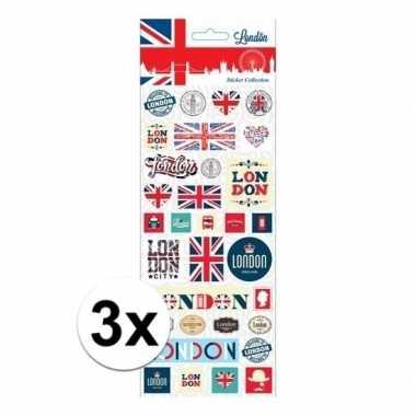 3x stickervel london