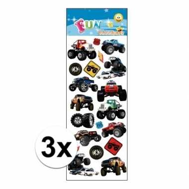 3x stickervel monstertrucks