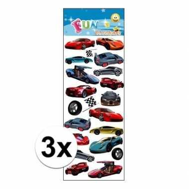 3x stickervel sportauto