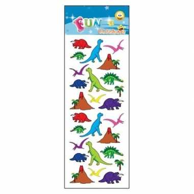 3x stickervellen dinosaurussen van 25x dino stickers