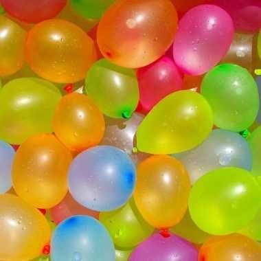 400x waterballonnen/waterbommen gekleurd voor kinderen