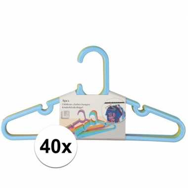 40x kledinghangers voor kinderkleding jongens