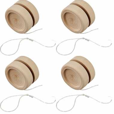 4x jojo om te schilderen/versieren van hout 5 cm