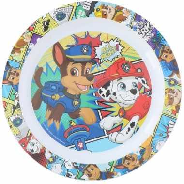 4x stuks nickelodeon paw patrol ontbijtbordjes 22 cm voor kinderen
