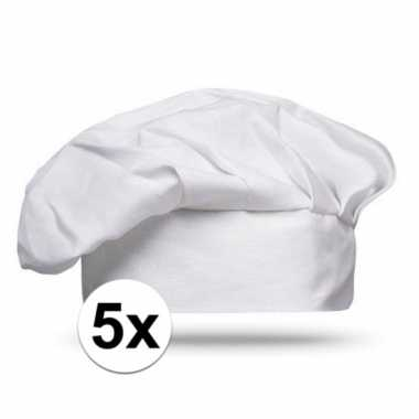 5x luxe witte kinderfeestjes koksmuts
