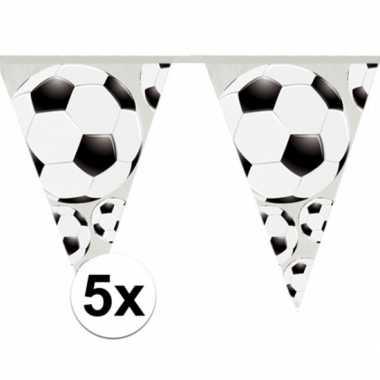 5x vlaggenlijnen voetbal thema 4 meter