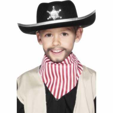 6x stuks cowboyhoed voor kinderen
