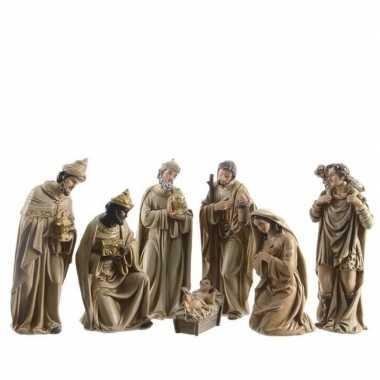 7-delige kerststal figuren beeldjes 12 cm