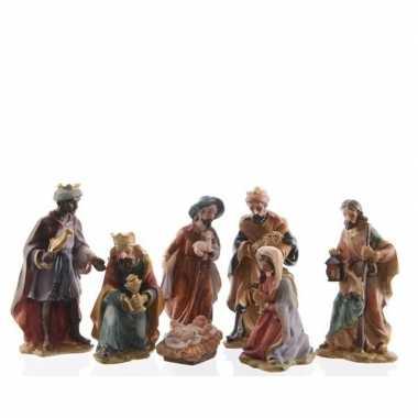 7 delige kerststal figuren beeldjes 9 cm