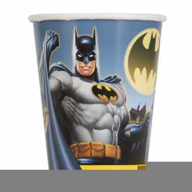 8x batman themafeest drinkbekertjes