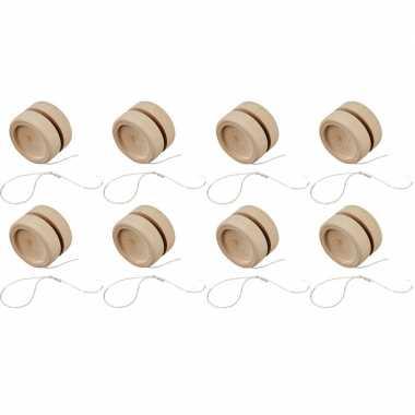 8x jojo om te schilderen/versieren van hout 5 cm