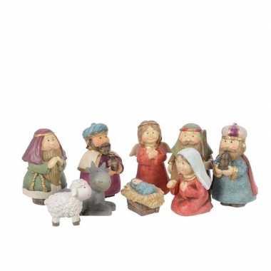 9-delige kerststal figuren beeldjes voor kinderen