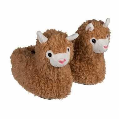 Alpaca/lama pantoffels voor kinderen