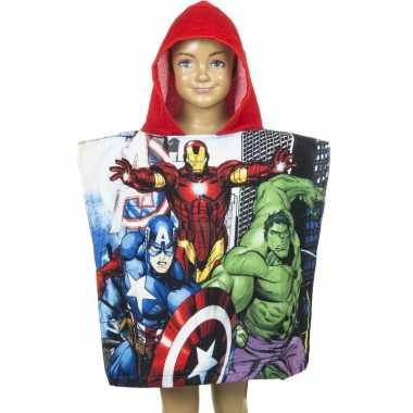 Avengers badcape rood voor kinderen