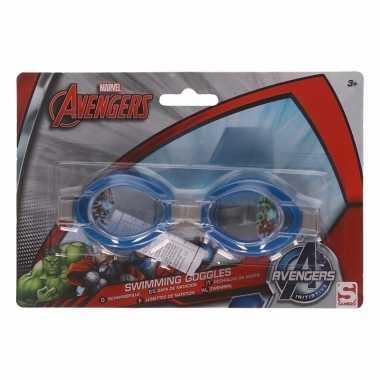 58b05cc990475d Avengers kinder zwembril blauw 3 tot 12 jaar | 2kidsonly.nl