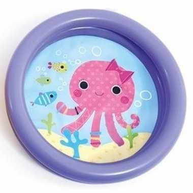 Baby/kinder opblaas zwembad paars 61 cm