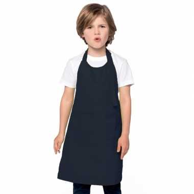 Basic kinderschort donkerblauw