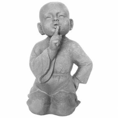 Beeld monnik stilzwijgend 41 cm