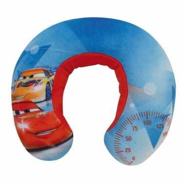 Blauwe cars disney nekkussen/reiskussen voor jongens