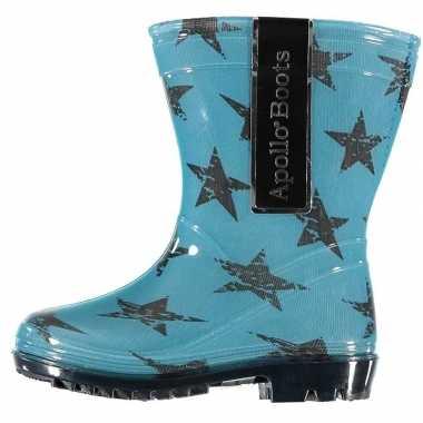 Blauwe peuter regenlaarzen met sterrenprint