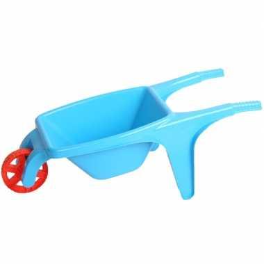 Blauwe speelgoed kruiwagen 70 cm
