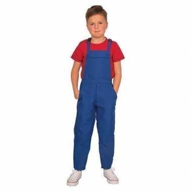 Blauwe tuinbroek overall voor kinderen