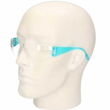 Blauwe vuurwerkbril/veiligheidsbril voor kinderen