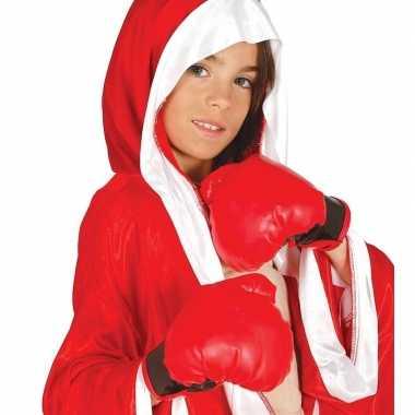 Bokser verkleed hanschoenen rood voor kinderen