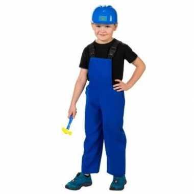 Bouwvakkers verkleed overall blauw voor kinderen