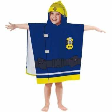 Brandweerman sam badponcho/handdoek 60 x 120 cm