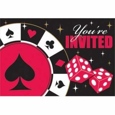 Casino uitnodigingen 8 stuks