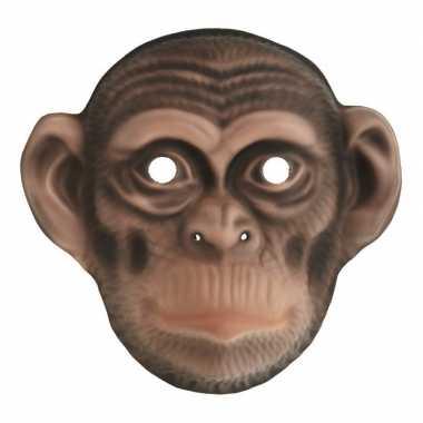 Chimpansee verkleed apen dierenmasker voor kinderen
