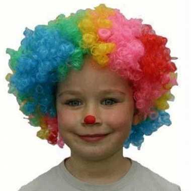 Clowns pruik kinderen