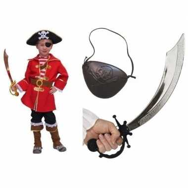 Compleet kapitein piratenpak voor kinderen