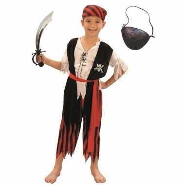 Compleet piraten kostuum maat s voor kinderen