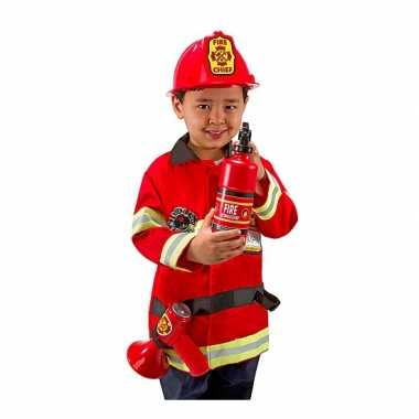 Complete brandweer outfit voor kinderen