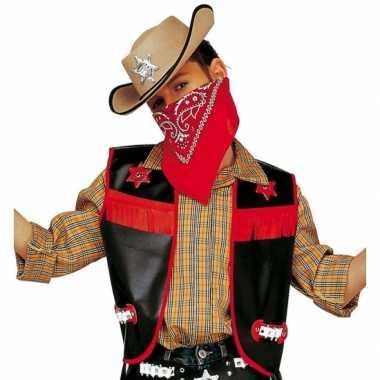 Cowboy hesje zwart voor kinderen