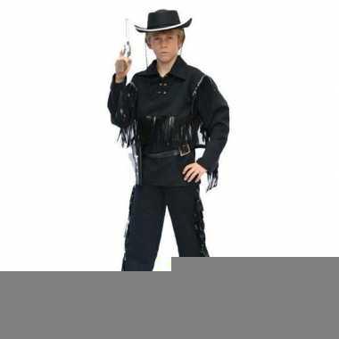 Cowboy kostuum zwart voor kinderen