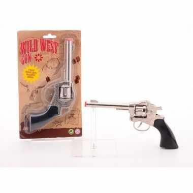 Cowboy western speelgoed klappertjes pistool voor kinderen